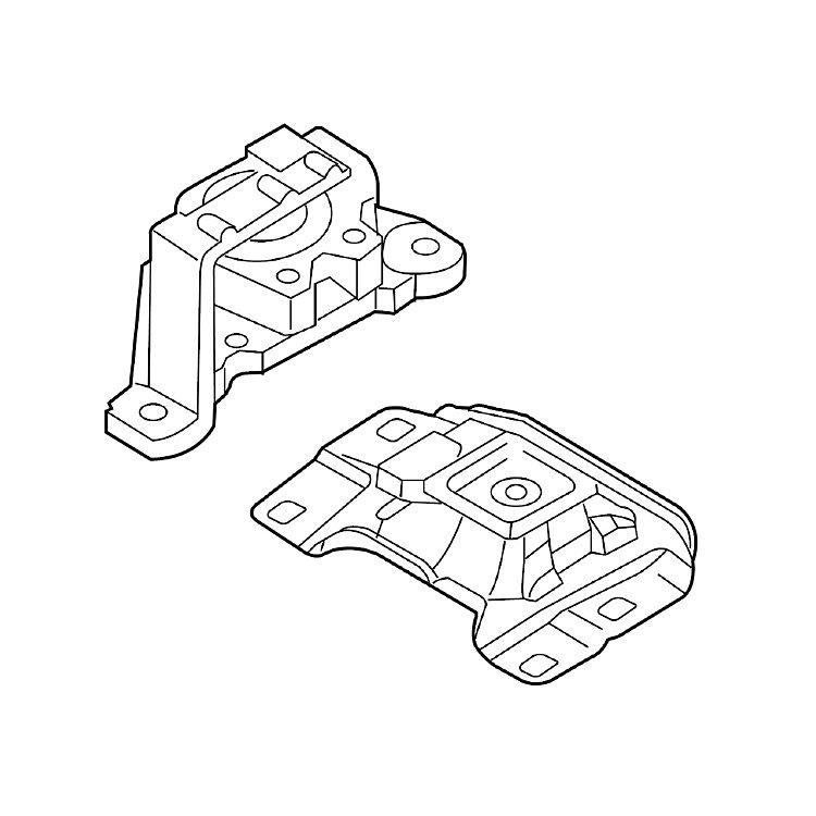 Подушки двигателя Мазда 2